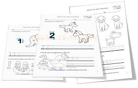 numbers worksheets for Kindergarten: Numbers 1-10