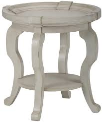 jofran sebastian round end table with shelf in cream local furniture