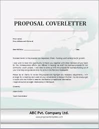 Project Proposal Cover Letters Sample Cover Letter For Proposal Scrumps
