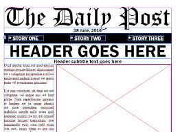 Basic Newspaper Template Adobe Indesign Newspaper Templates Adobe Education Exchange