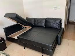 frighten ikea sofa bed under storage
