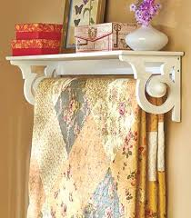 hanging quilt rack with shelf the
