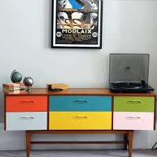 cool vintage furniture. upcycled retro sideboard with painted drawers cool vintage furniture