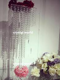 acrylic crystal chandelier wedding wedding decoration crystal chandelier table centerpieces table flower stands table top chandelier