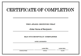 Certificate Of Completion Templates Certificates Extraordinary Certificate Of Completion