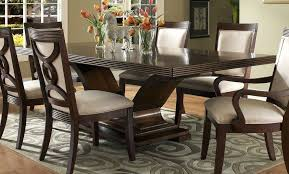 dark wood and glass dining table glass dining table dining room modern 9 piece dining room