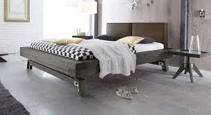 Massivholz Bett Z B In Grau Aus Akazie Salo Bettende