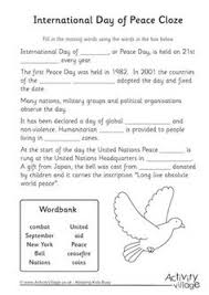 international day of peace story paper montessori  short essay about peace peace day for kids