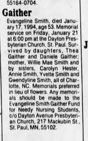 Evangeline Smith Gaither - Newspapers.com