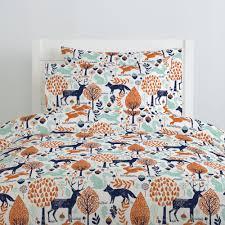 189 00 229 00 navy and orange woodland animals duvet cover