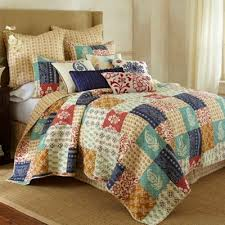 Buy Patchwork Quilt King from Bed Bath & Beyond & Levtex Home Jasmin Reversible King Quilt Set in Blue Adamdwight.com