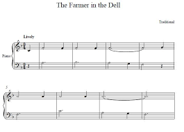 sheet music for kids the farmer in the dell easy piano sheet music the farmer in the