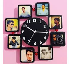customised mdf photo wall clock