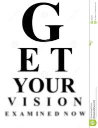 Blurry Eye Test Chart Blurred Eye Test Chart Stock Illustration Illustration Of