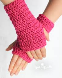 Crochet Gloves Pattern Custom 48Minute Fingerless Crochet Gloves Repeat Crafter Me