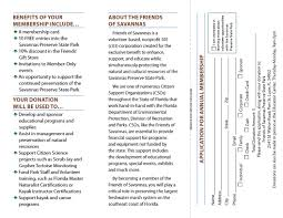 Application For Membership Membership Brochure And Application Friends Of Savannas