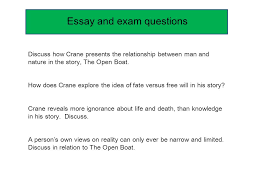 the open boat essay starting an essay a quote macbeth critical essay plan