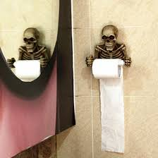 skull toilet paper holder wall mounted