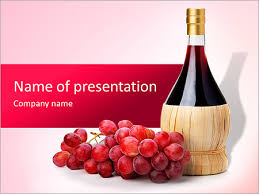 Wine Powerpoint Template Bottle Of Good Wine Powerpoint Template Backgrounds Google Slides