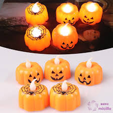 MCL Pumpkin Candle Lights <b>LED</b> Light-Emitting Electronic ...