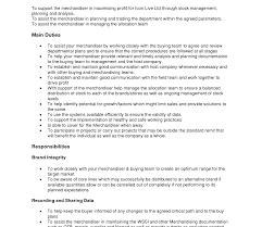 Fantastic Retail Merchandising Resume Elaboration Documentation