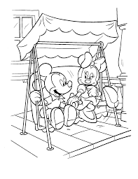 Baby Minnie Mouse And Mickey Mouse Coloring Pages Vingel