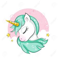Cute Magical Unicorn Vector Design Isolated On White Background