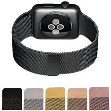 online buy whole stainless watch straps from stainless milanese loop watch strap men link bracelet stainless steel woven black watchband case for apple watch