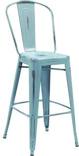 distressed metal bar stools. brilliant stools lansing distressed metal indooroutdoor bar stool dream blue  contemporaryoutdoorbar to stools a