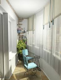 Modern Balcony With Blue Chair Furniture