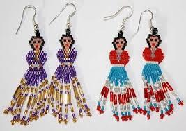 navajo bead designs. Unique Navajo BEADED EARRING 36 DOLL  Navajo Indian Beaded Doll Earrings In Bead Designs 1