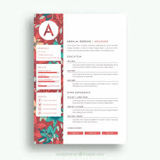 Pretty Resume Templates Classy Pretty Floral Resume Template Vector Free Download