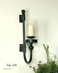 glass candle sconce mercury wall sconces with for candles lovely stained