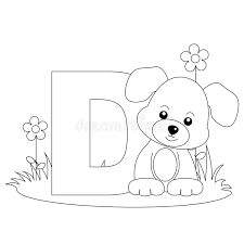 Small Picture Animal Alphabet D Coloring Page Royalty Free Stock Photography