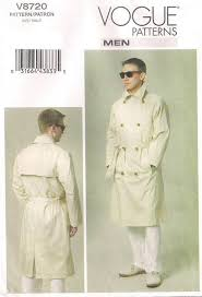 Trench Coat Pattern Classy Vogue 48 Men's Double Breasted Trench Coat Pattern 4848 Vintage