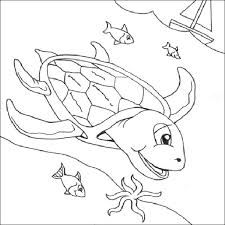 Small Picture Free Sea Turtle Underwater Coloring Page Download Print Online
