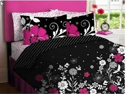 cool bed sheets for girls. Perfect Bed Pink Black White Girls Flowered Twin Comforter Sheet Bed In A Bag Set And Cool Sheets For D