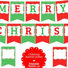 Free Merry Christmas Polka Dot Banner Letters From