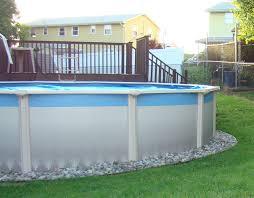 above ground pool edging ideas round