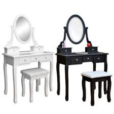 image is loading vanity table jewelry makeup desk bench dresser w