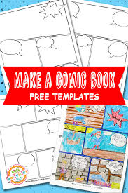 Comic Book Templates Free Kids Printable