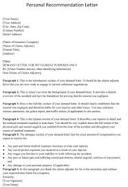 Intro To Recommendation Letter Resume Personal Recoomendation Letter Coloringerence