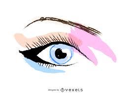 free makeup artist logos crayon eye makeup