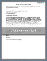 Termination Letter Description Fascinating Sample Termination Letters