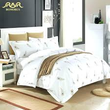 luxury white hotel duvet cover set quality king queen size bed linen 100white covers cotton hotel