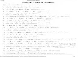 balancing chemical equations worksheet with answer key