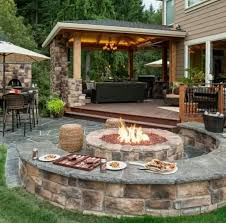 deck patio with fire pit. Delighful Pit Outdoor Seating Fire Pit And I Would Add A Pool Hot Tub With Deck Patio Fire Pit T