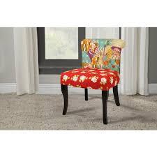 Slipper Chair English Garden Patchwork Red Slipper Chair Dwc 199 The Home Depot
