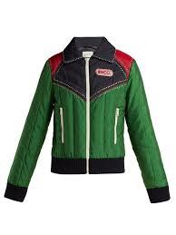 gucci crystal embellished padded er jacket