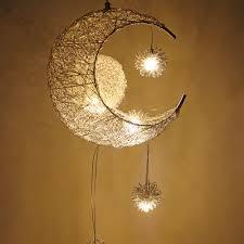 Us 28 95 22 Off Hanging Fixtures Child Kids Room Decor Light Fitting Modern Led Chandelier Lighting Moon Star Lamp Pendant Lamp Lustre In Pendant